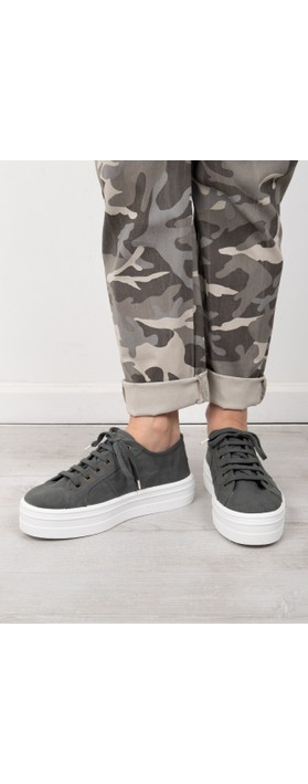 Victoria Shoes Barcelona Organic Cotton Washable Flatform Trainer Shoe  Plomo Grey 15