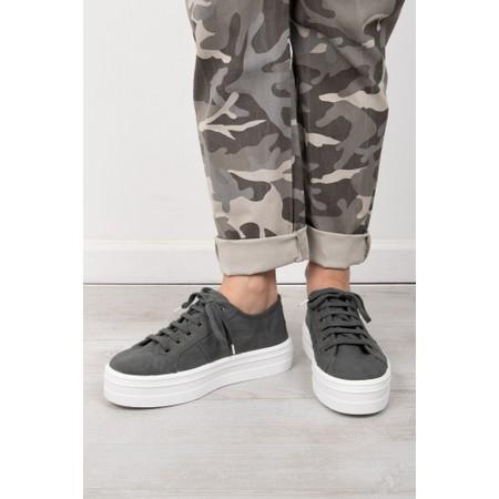 Victoria Shoes Barcelona Organic Cotton Washable Flatform Trainer Shoe  - Grey