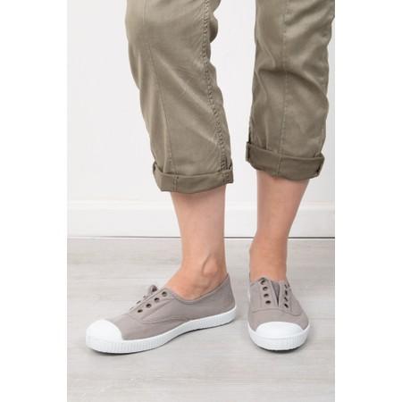 Victoria Shoes Dora Beige Organic Cotton Washable No Lace Pump - Beige
