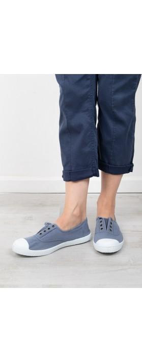 Victoria Shoes Dora Blue Organic Cotton Washable No Lace Pump Azul Blue 36
