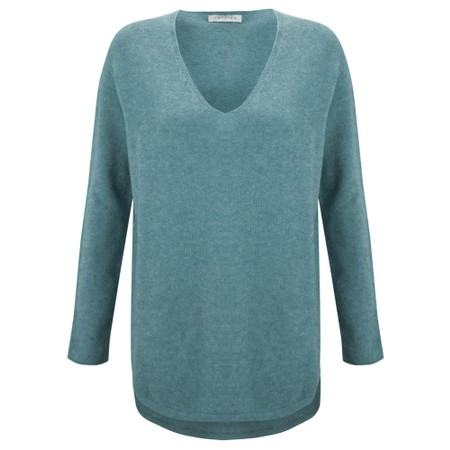 Amazing Woman Perrie V Neck Jumper - Blue