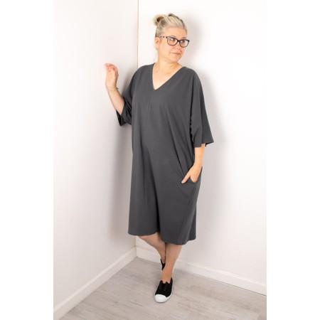 Chalk Pippa Plain Organic Jersey Dress - Black
