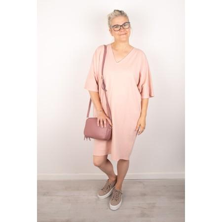 Chalk Pippa Plain Organic Jersey Dress - Pink
