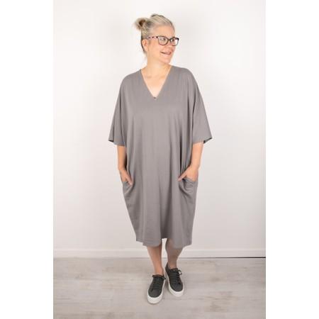 Chalk Pippa Plain Organic Jersey Dress - Grey