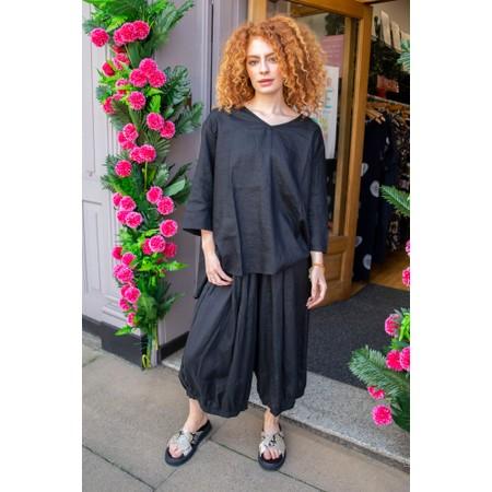 Tirelli Billow Linen Pant - Black
