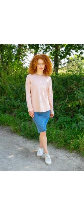 Chalk Tasha Hello Top Pink / White