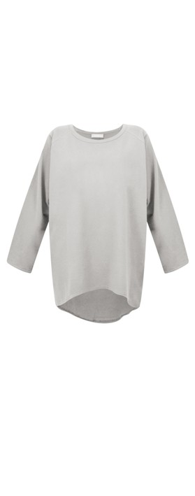 Chalk Robyn Plain Jersey Top Dove Grey