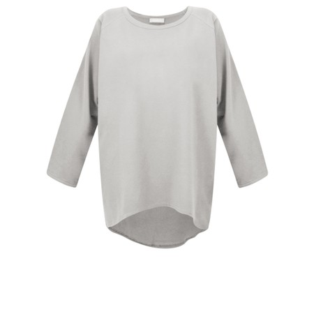Chalk Robyn Plain Jersey Top - Grey