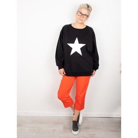 Chalk Nancy Star Oversized Comfy Sweatshirt - Beige