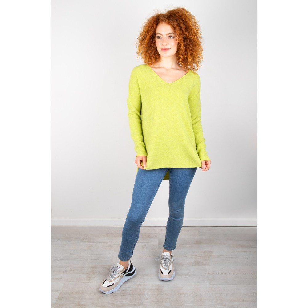 Amazing Woman Perrie V Neck Jumper Pear