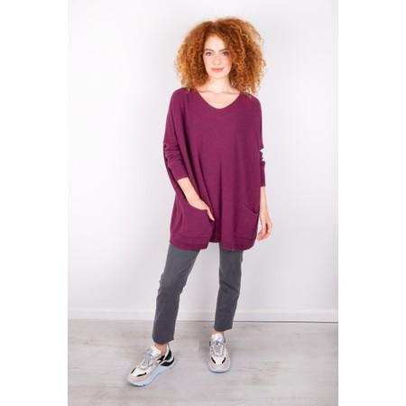 Amazing Woman Caryf X Round Neck Oversized Jumper - Purple
