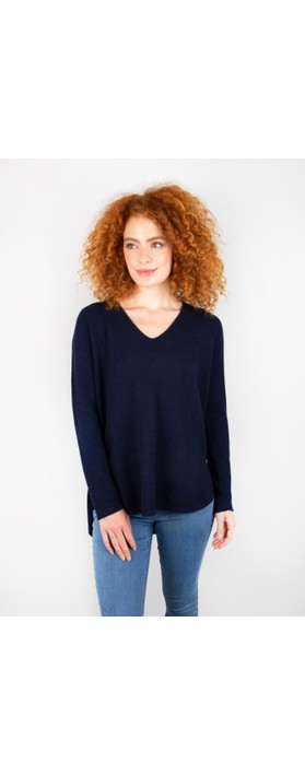 Amazing Woman Perrie V Neck Jumper Navy