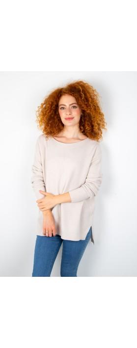 Amazing Woman Cassi X Round Neck Front Seam Knit Panna Cream
