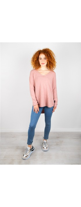 Amazing Woman Perrie V Neck Jumper Antique Rose