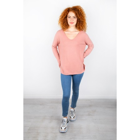 Amazing Woman Perrie V Neck Jumper - Pink