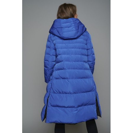 RINO AND PELLE Keila Longline Reversible Puffa Coat - Blue