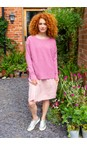 Amazing Woman Orchid Celia Round Neck Ribbed Knit