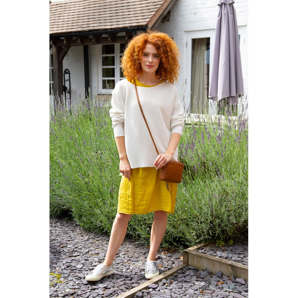 Amazing Woman Celia Round Neck Ribbed Knit Panna Cream