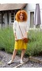 Amazing Woman Panna Cream  Celia Round Neck Ribbed Knit