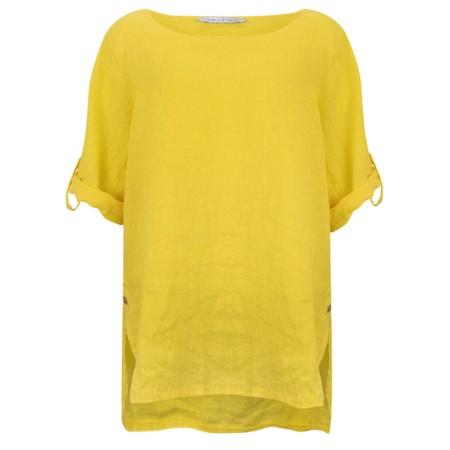 Amazing Woman Curve Elena Curve Linen Top - Yellow