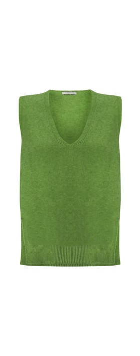 Amazing Woman Pixie V Neck Knitted Vest Fir Green
