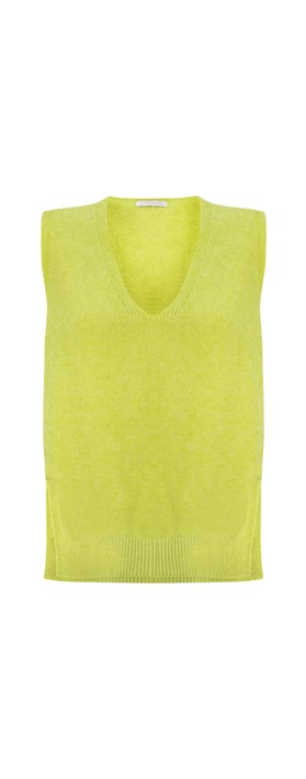 Amazing Woman Pixie V Neck Knitted Vest Pear