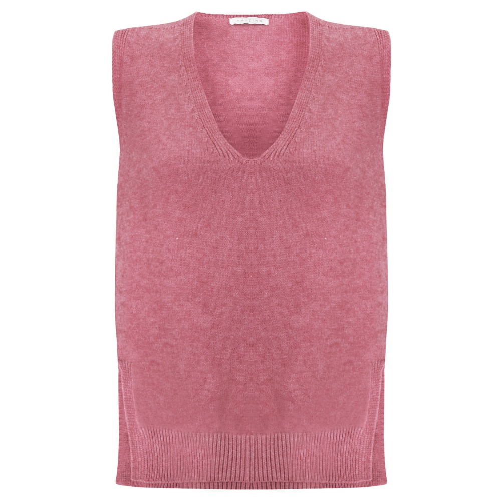 Amazing Woman Pixie V Neck Knitted Vest Orchid