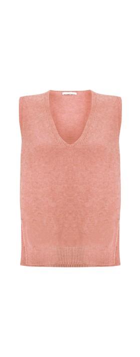 Amazing Woman Pixie V Neck Knitted Vest Blusher