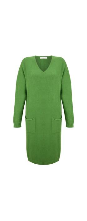 Amazing Woman Pollie V Neck Dress Fir Green