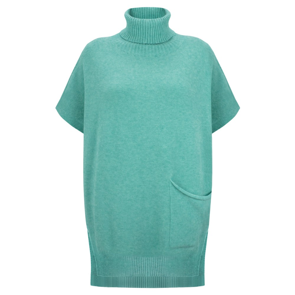 Amazing Woman Piper Roll Neck Poncho Opal