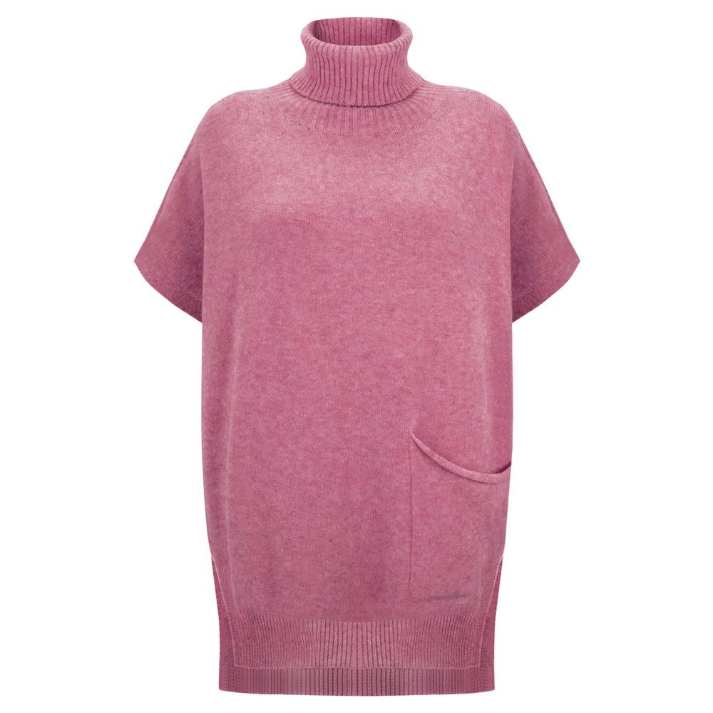 Amazing Woman Piper Roll Neck Poncho Orchid