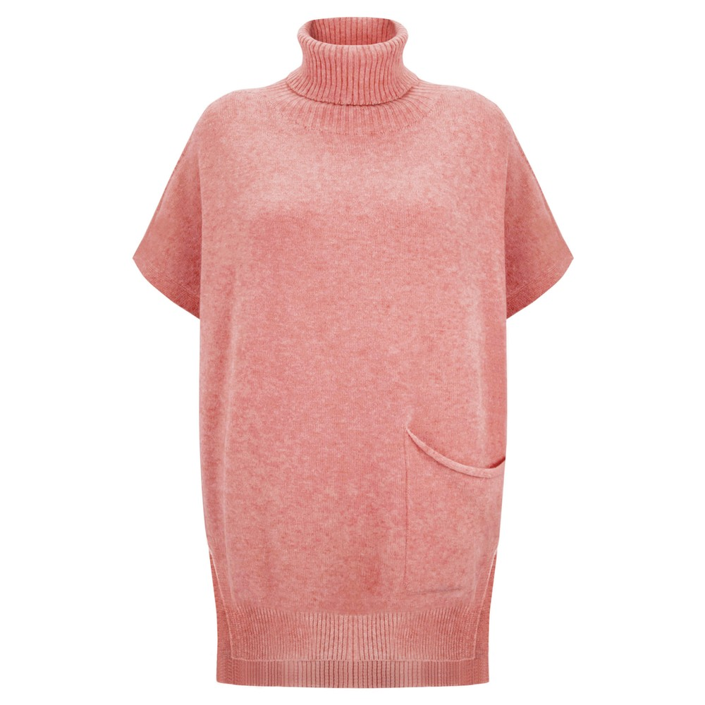 Amazing Woman Piper Roll Neck Poncho Blusher