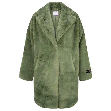 RINO AND PELLE Joela Faux Fur Coat - Green
