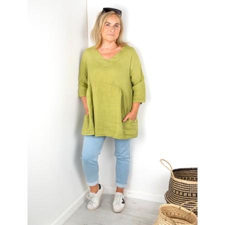 Amazing Woman Tesa V Neck Top - Green