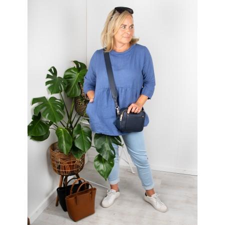 Amazing Woman Lexia Linen Top - Blue