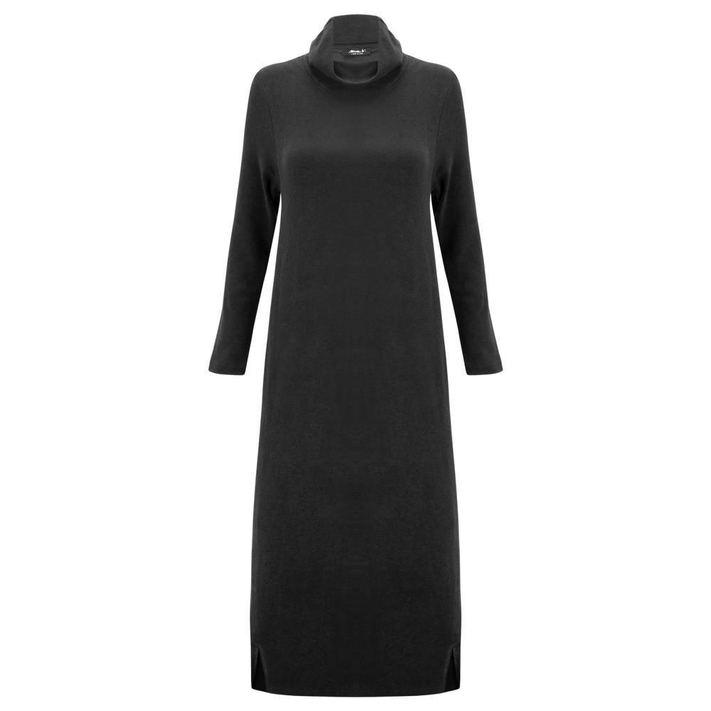 Mama B Tiramisu U Plain Fleece Dress Anthracite