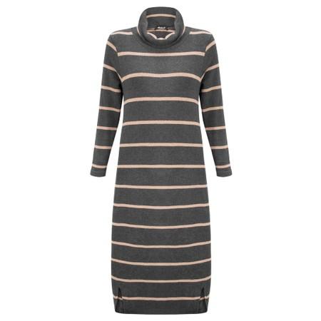 Mama B Tiramisu RG Wide Stripe Fleece Dress - Grey