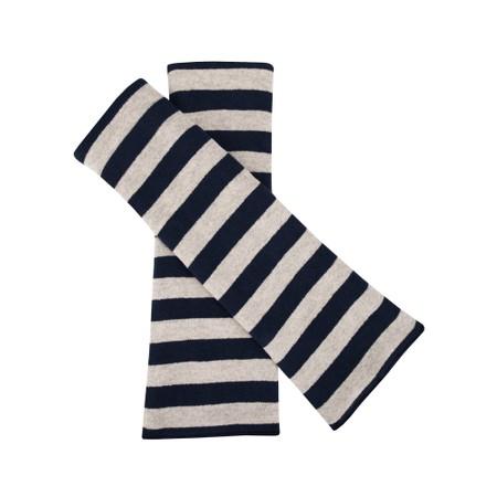 Mama B Cotto M P Stripe Fleece Glove - Blue