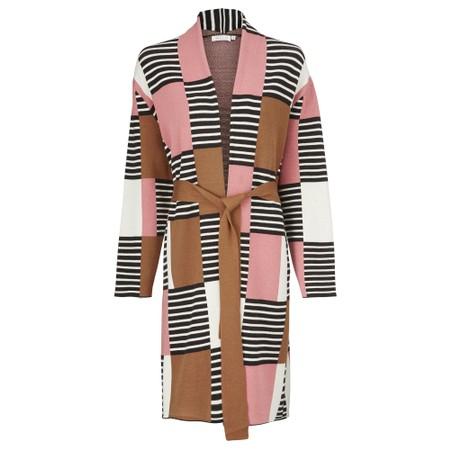 Masai Clothing Lorika Graphic Pattern Cardigan - Pink