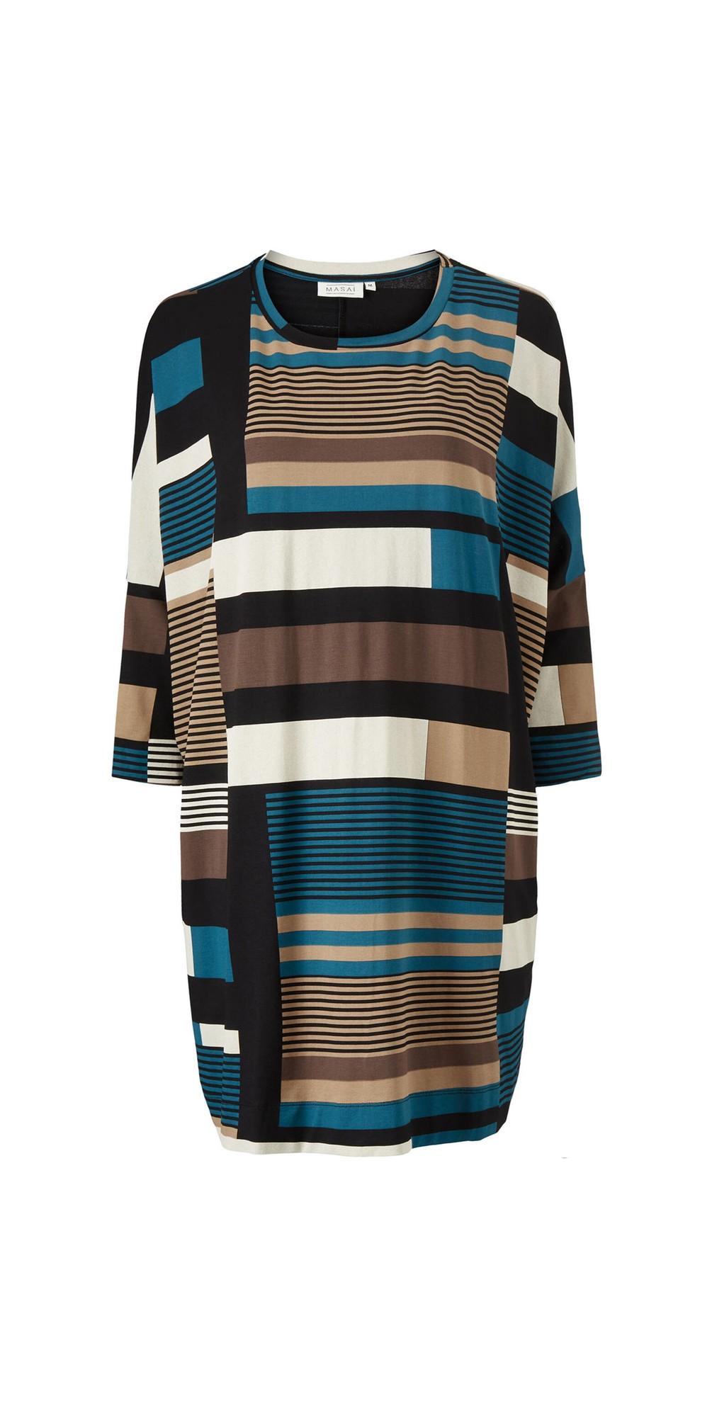 Gabini Graphic Stripe Tunic Dress main image