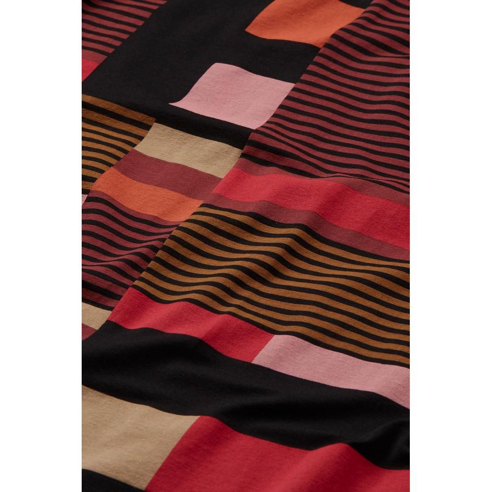 Masai Clothing Gabini Graphic Stripe Tunic Dress Chilli Pepper