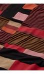 Masai Clothing Chilli Pepper Gabini Graphic Stripe Tunic Dress