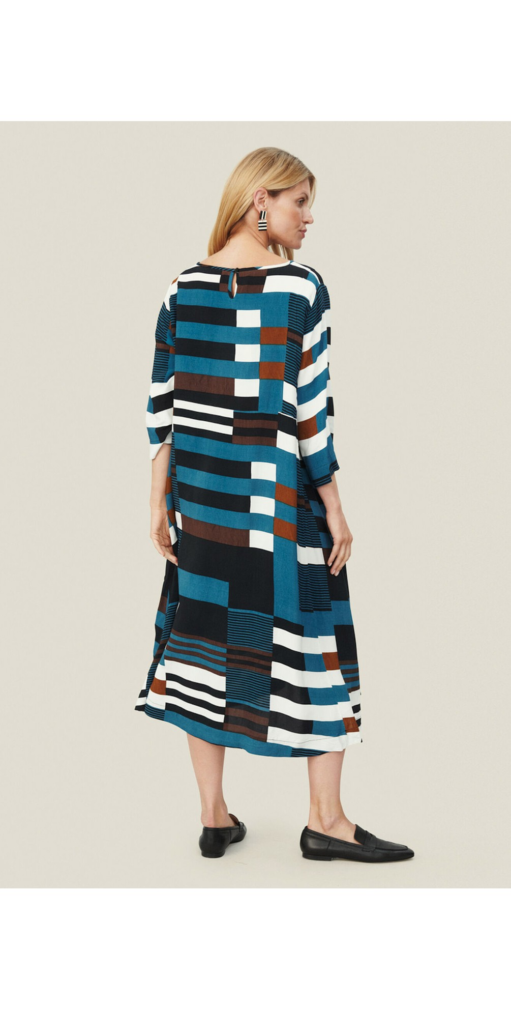 Nabia Graphic Stripe Dress main image