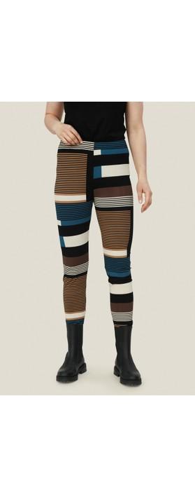 Masai Clothing Pio Graphic Stripe Legging Corsair