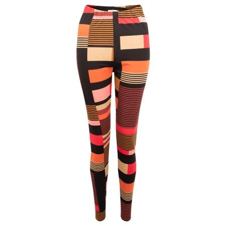 Masai Clothing Pio Graphic Stripe Legging - Red