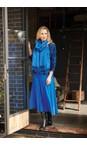 Adini Navy / Bright Blue Meri Top Abstract Check Print