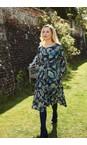 Adini Navy / Green  Melissa Silhouette Print Dress