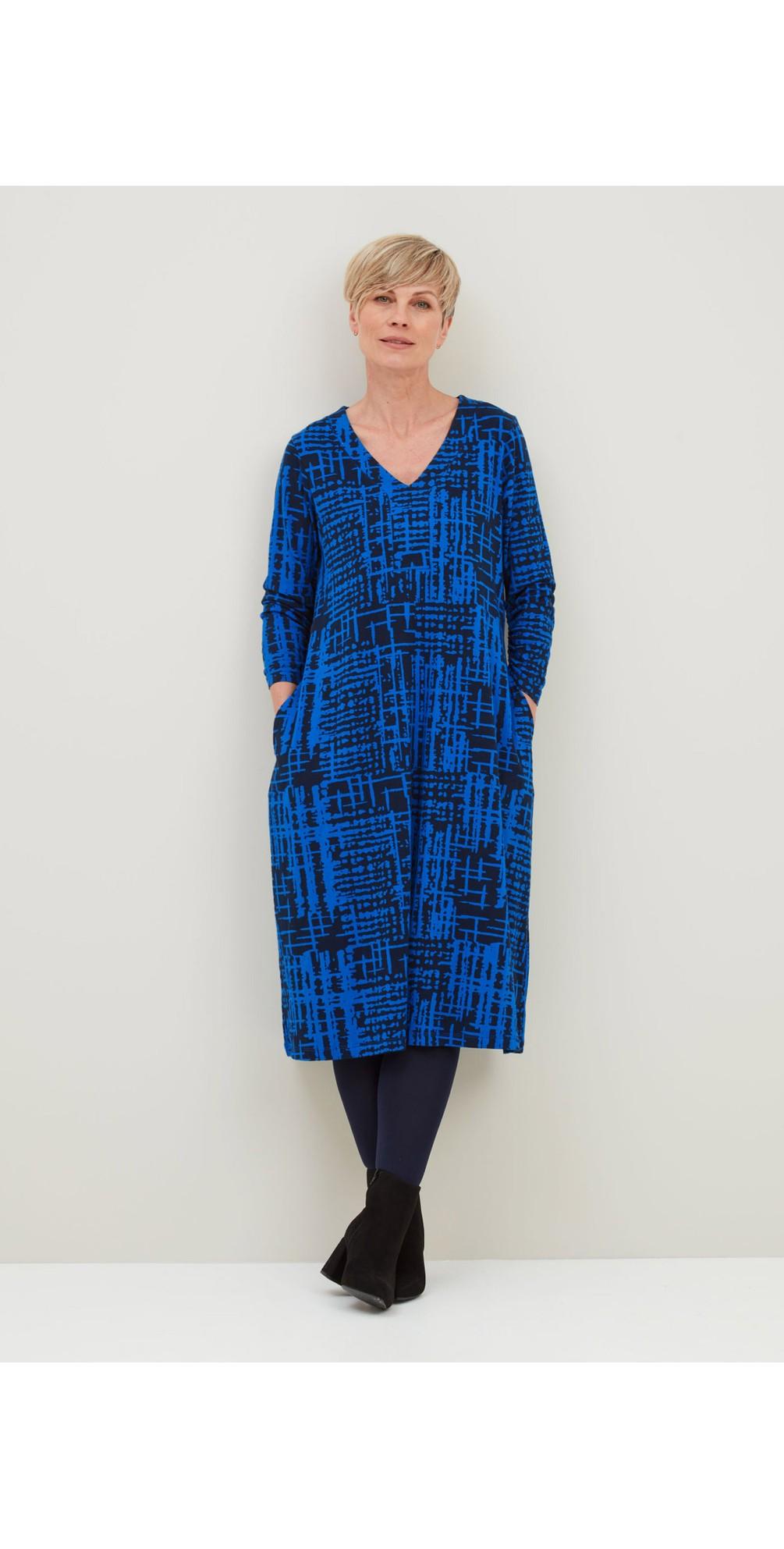 Ridley Abstract Check Print Dress  main image