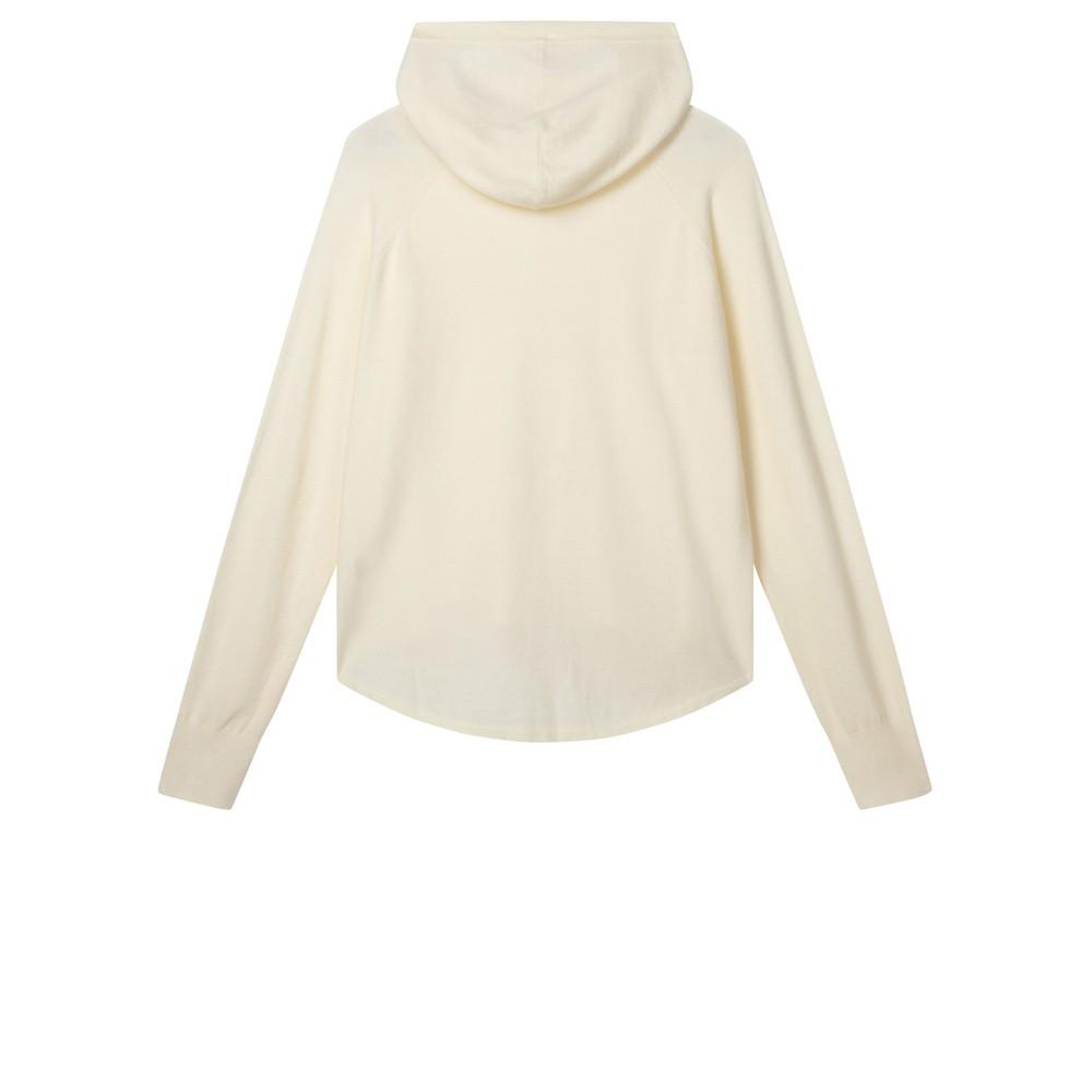 Chalk Hannah Supersoft Knit Hoodie Cream