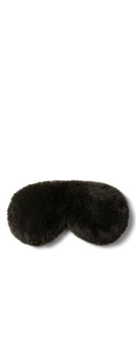 Chalk Home Liz Luxury Faux Fur Sleep Mask Dark Olive